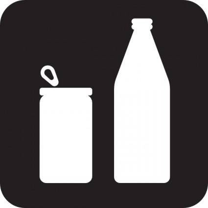Cans Or Bottles Black clip art