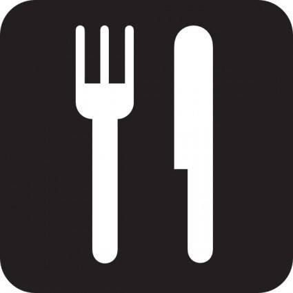 Food Service Black clip art