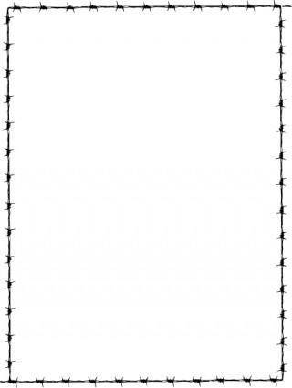 free vector Revans Barbed Wire Border clip art