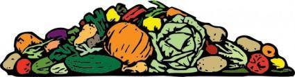 A Pile Of Vegetables clip art