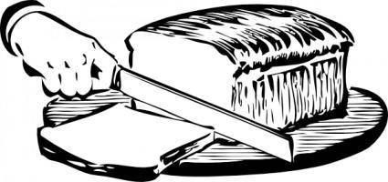 Slicing Bread clip art