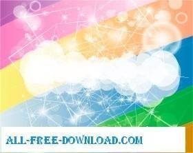 free vector Colored clouds vector