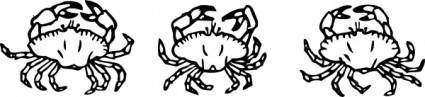 free vector Outline Crabs clip art