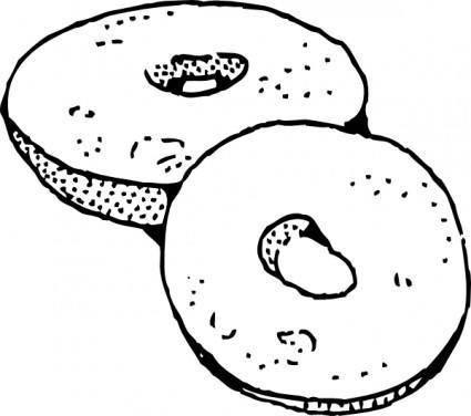 free vector Bagel clip art