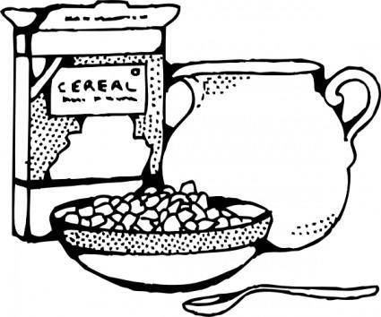 free vector Cereal Box And Milk clip art