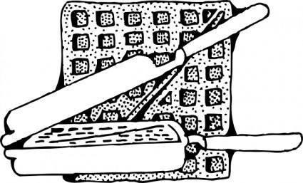 Waffle And Waffle Iron clip art