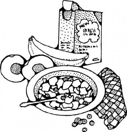 Breakfast With Cereal clip art