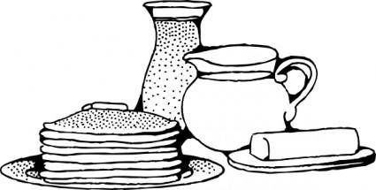 free vector Breakfast With Pancakes clip art