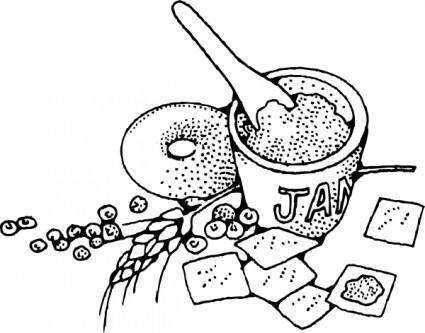 free vector Jam And Crackers clip art