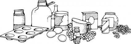 free vector Baking Ingredients clip art