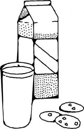 free vector Milk And Cookies clip art