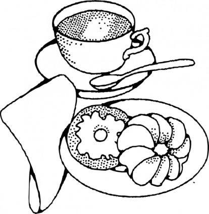 Coffee And Pastry clip art