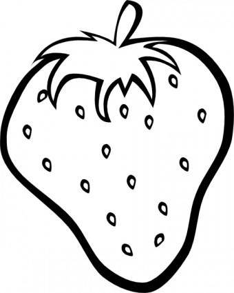 free vector Outline Strawberry clip art