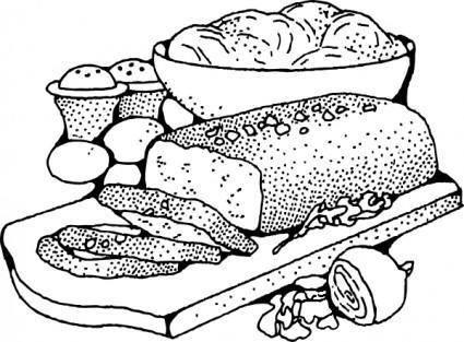 Meatloaf clip art