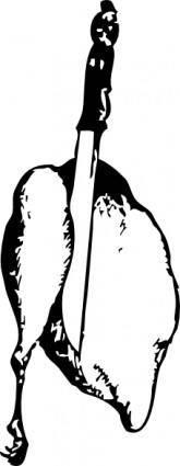free vector Cutting Chicken clip art