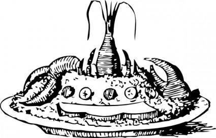 free vector Lobster Salad clip art