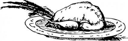 Roast Pheasant clip art