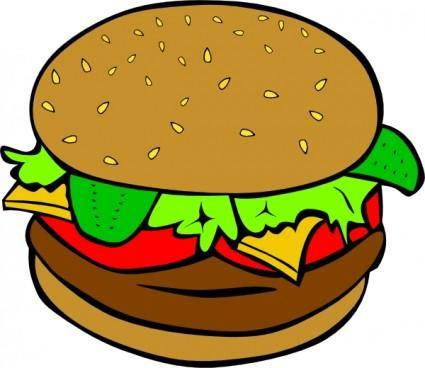 free vector Fast Food Lunch Dinner Ff Menu clip art
