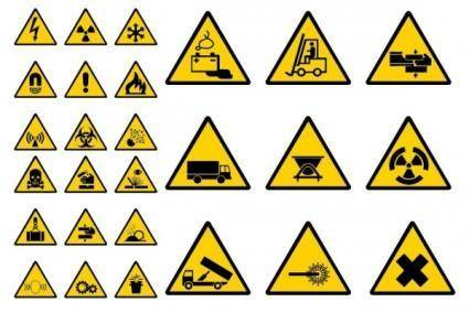 free vector Vector construction site warning label