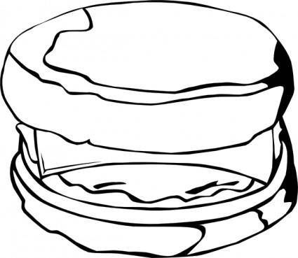 Fast Food Breakfast Egg And Cheese Biscuit clip art
