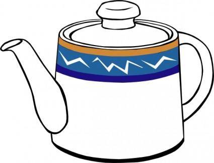 Porclain Tea Kettle clip art