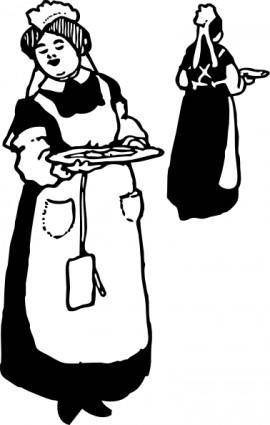 free vector Waitresses clip art