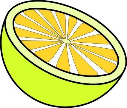 free vector Cut Lemon clip art