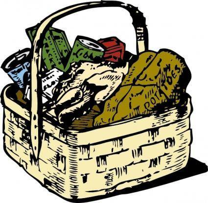 free vector Food Basket clip art