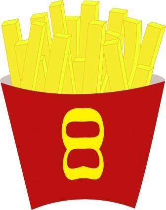 free vector French Free Fries clip art