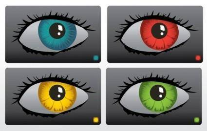 free vector Color Eyes Vector