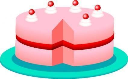 Pink_cake clip art
