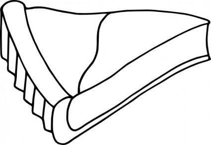 free vector Flan_bw clip art