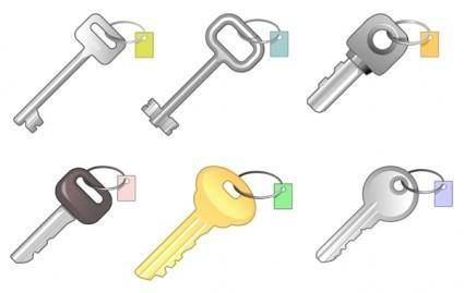 6 different keys