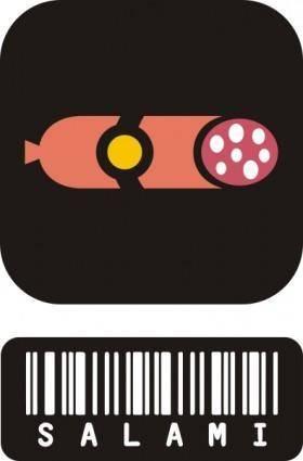 free vector Salami clip art