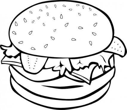 free vector Hamburger (b And W) clip art