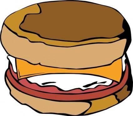 Egg On Muffin clip art