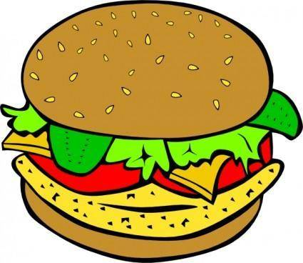 Chicken Burger clip art