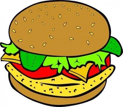 free vector Chicken Burger clip art