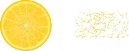 free vector Orange Slice clip art