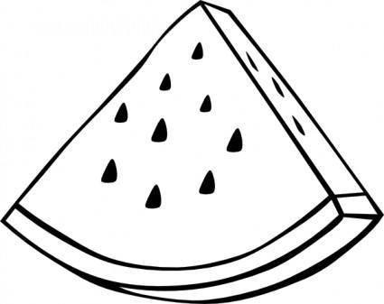 free vector Watermelon Melon Outline clip art