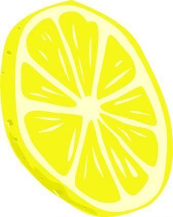 free vector Lemon (slice) clip art