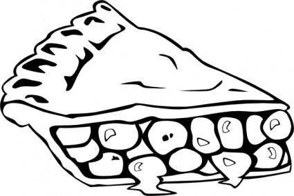 Cherry Pie (b And W) clip art