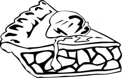 Apple Pie (b And W) clip art