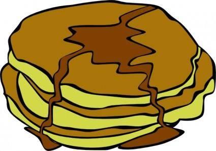 Pan Cakes clip art
