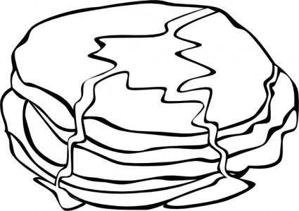 Pan Cakes (b And W) clip art