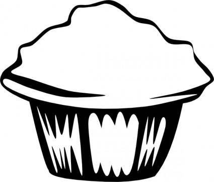 Generic Muffin (b And W) clip art