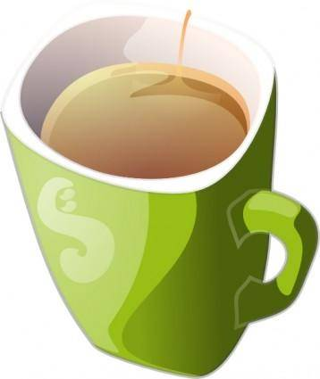 Zielony Kubek HerbatyGreen Mug Of Tea clip art