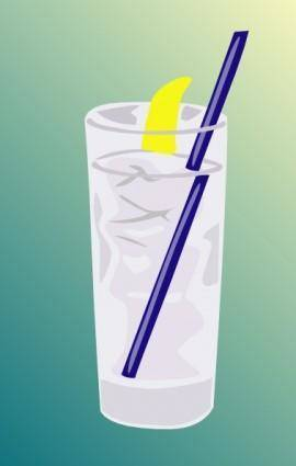 Ice Water Glass clip art