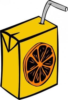 free vector Orange Juice Box clip art