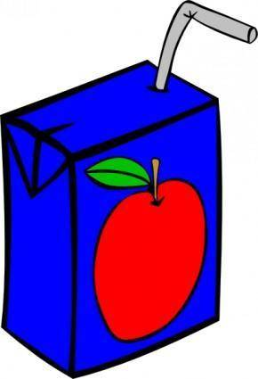free vector Apple Juice Box clip art